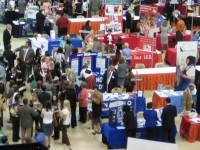 People Attending a College Career Fair