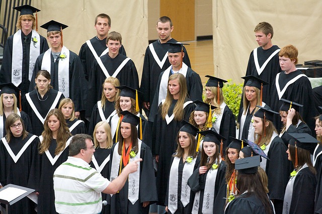 Students Preparing for Graduation