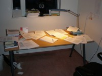 Desk Full of Essay Drafts