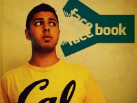 College Student with Facebook Logo