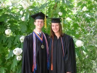 Male and female graduates